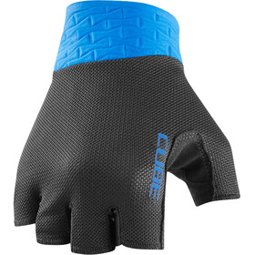 Cube Performance Short Finger Gloves, black/blue